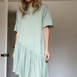 Zara Knit Midi Dress Pistachio Soft